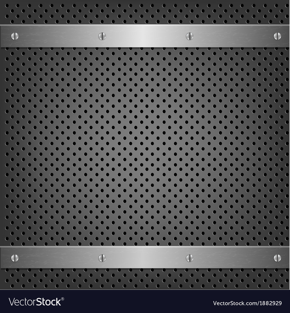 Metal background with aluminum plate vector | Price: 1 Credit (USD $1)