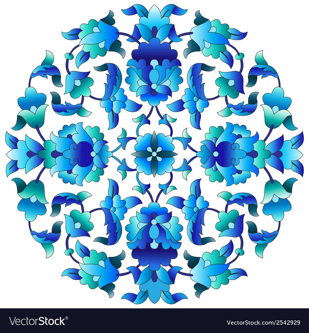 Ottoman motifs design series sixty three vector | Price: 1 Credit (USD $1)