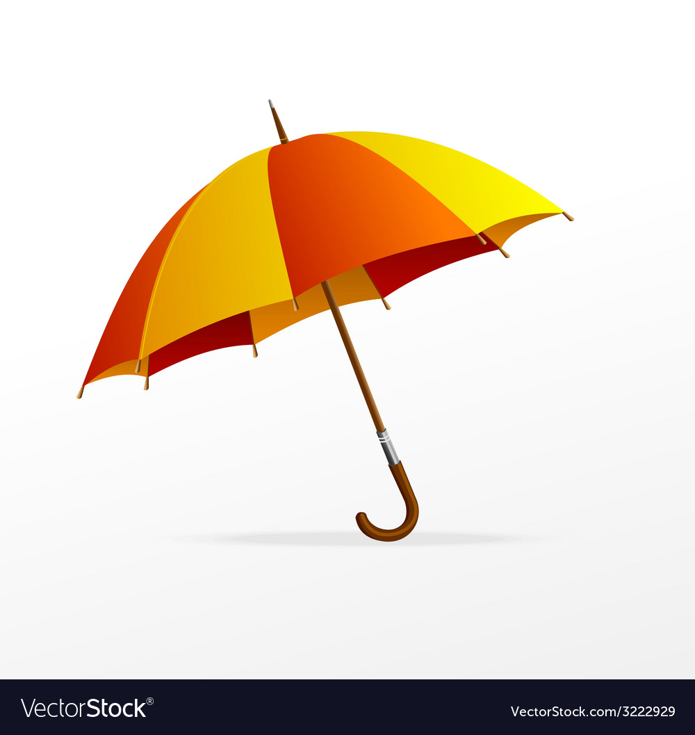 Red and yellow umbrella isolated vector   Price: 1 Credit (USD $1)