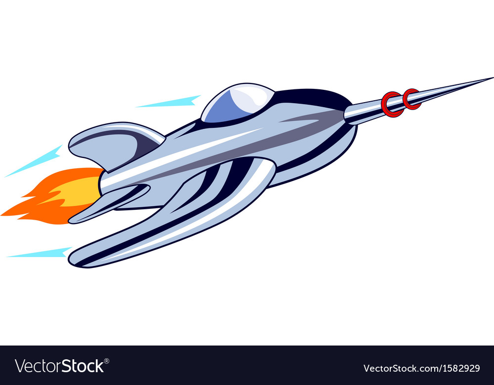 Rocket ship flying vector   Price: 1 Credit (USD $1)
