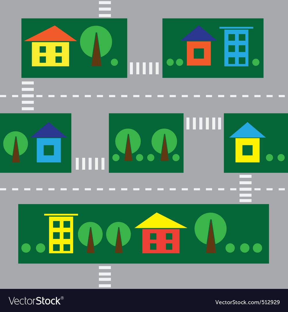 Seamless cityscape vector | Price: 1 Credit (USD $1)