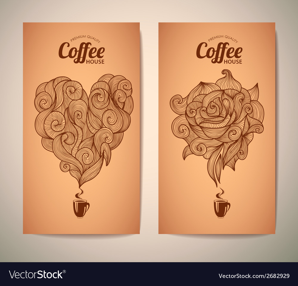 Set of coffee concept design vector | Price: 1 Credit (USD $1)