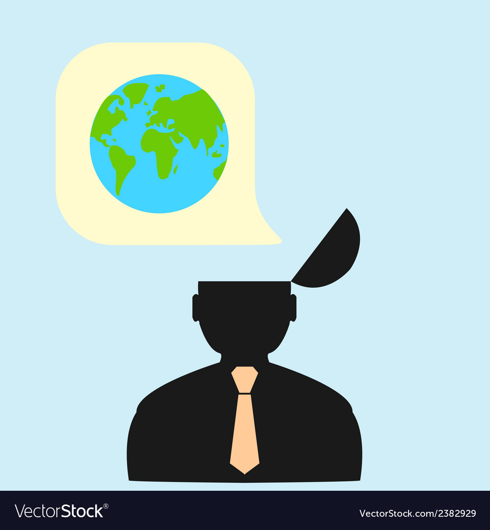 Thoughts about the world and planet vector | Price: 1 Credit (USD $1)