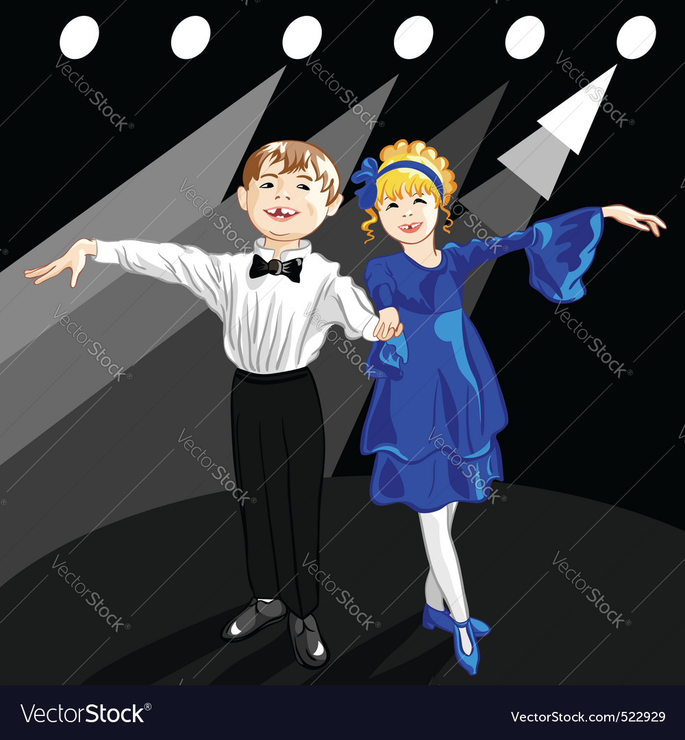 Tiny dancers on the stage vector | Price: 3 Credit (USD $3)