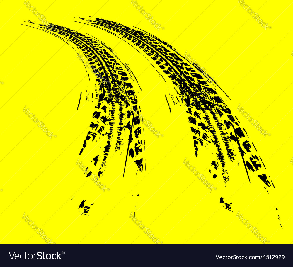 Tire tracks background vector | Price: 1 Credit (USD $1)