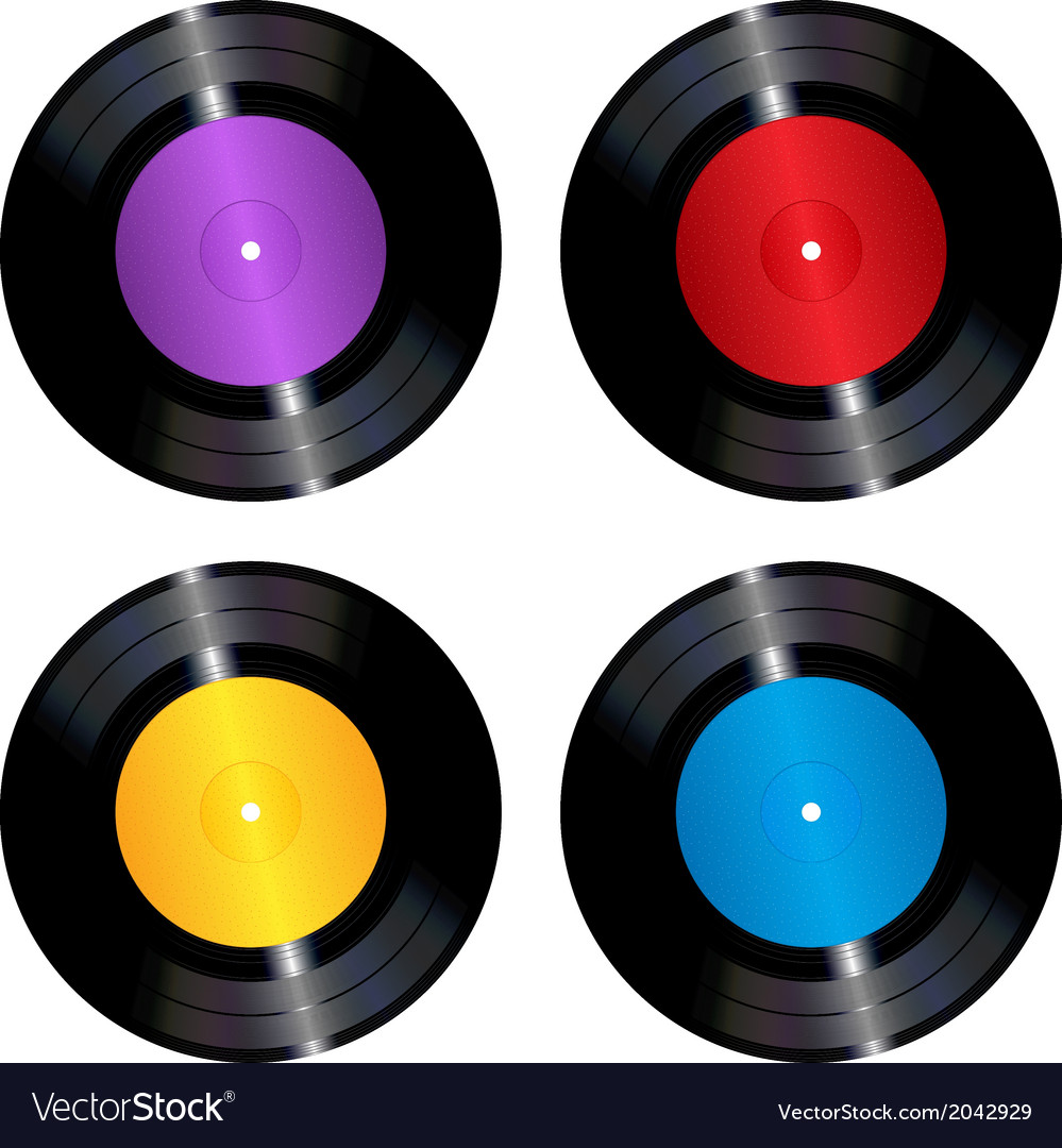 Vinyl records set vector | Price: 1 Credit (USD $1)