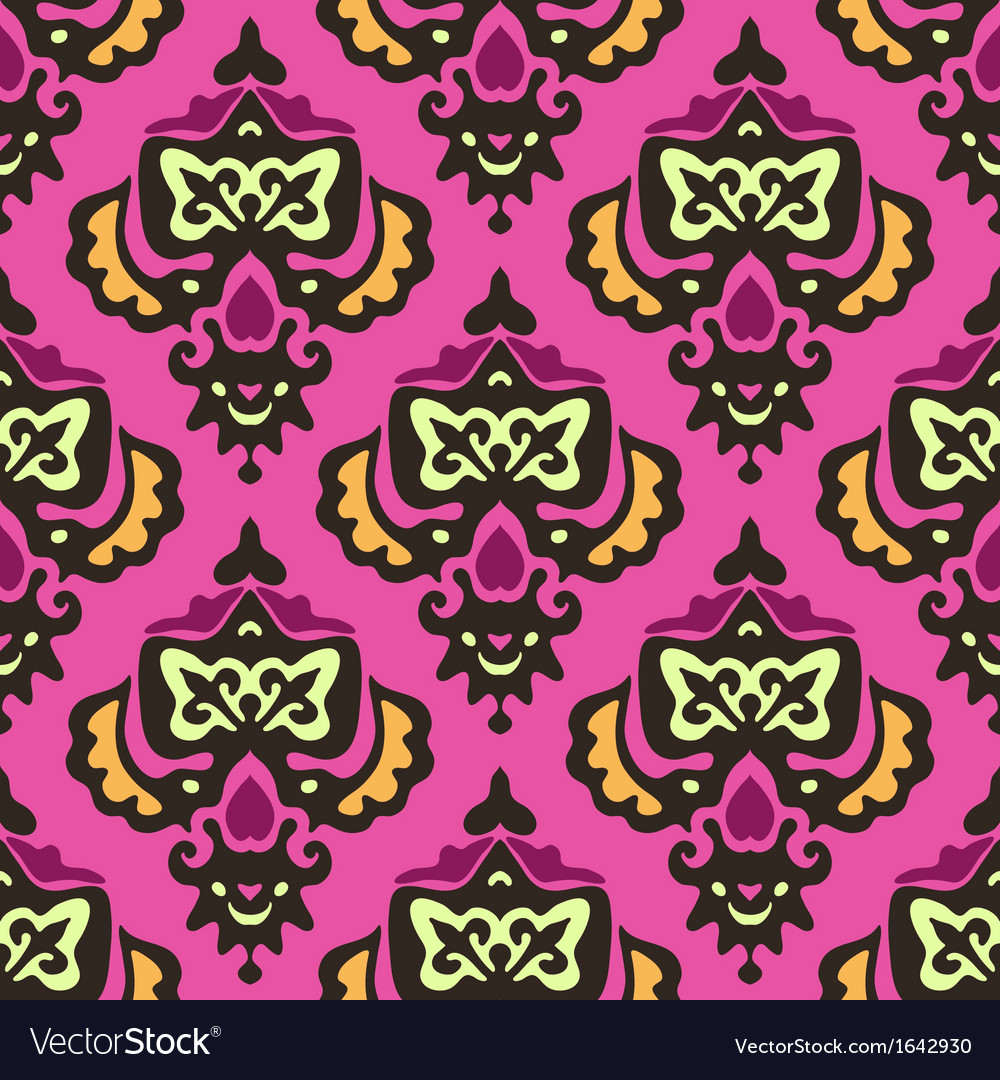 Damask royal seamless pattern vector | Price: 1 Credit (USD $1)