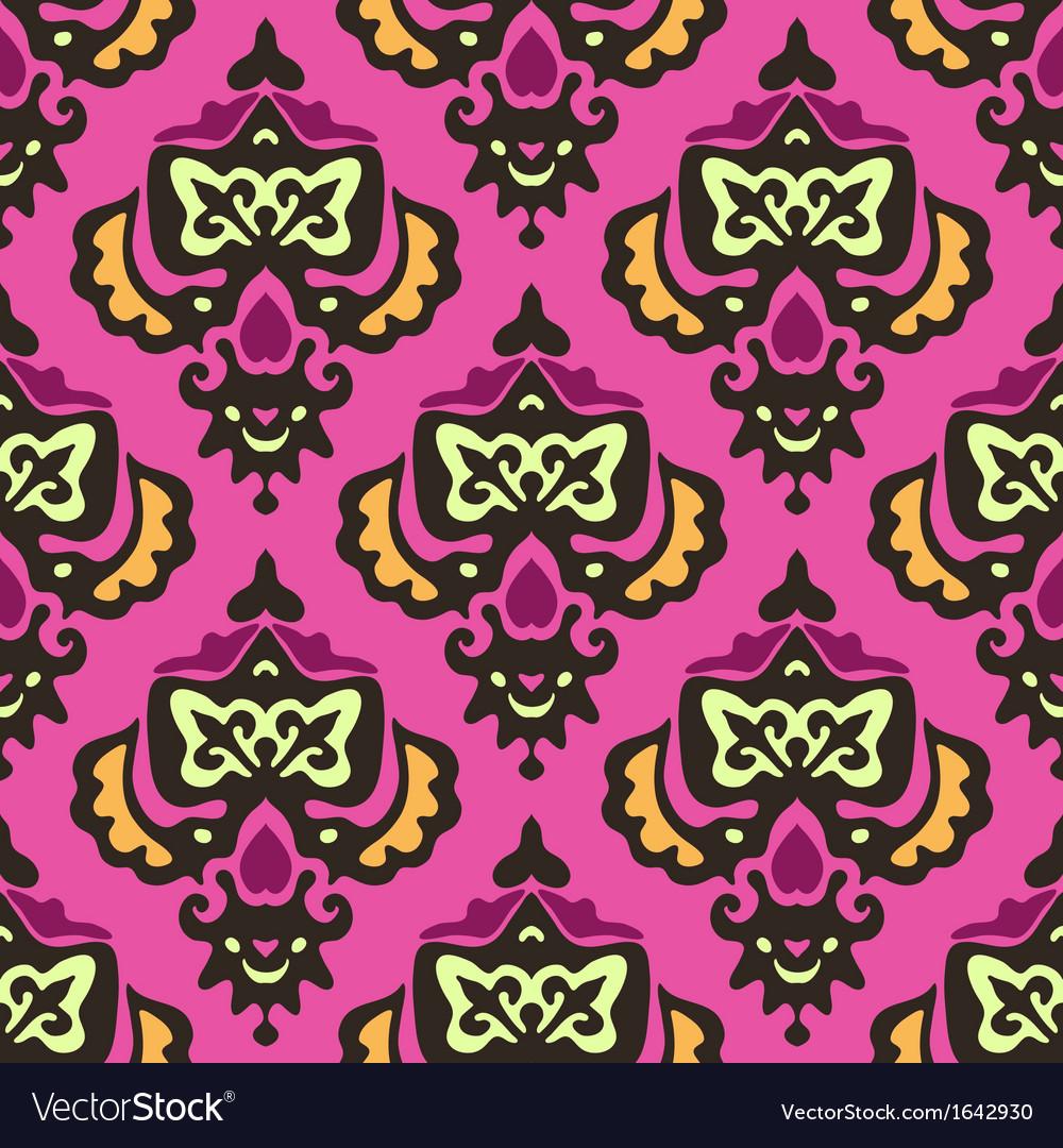 Damask royal seamless pattern vector   Price: 1 Credit (USD $1)