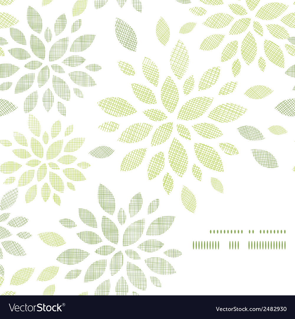 Fabric textured abstract leaves corner frame vector | Price: 1 Credit (USD $1)