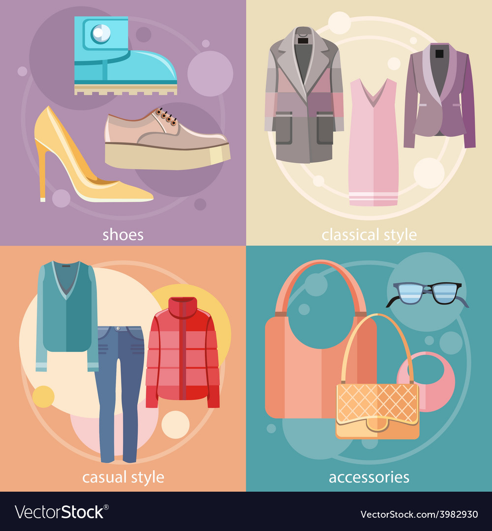 Fashion design clothes and accessories vector | Price: 1 Credit (USD $1)