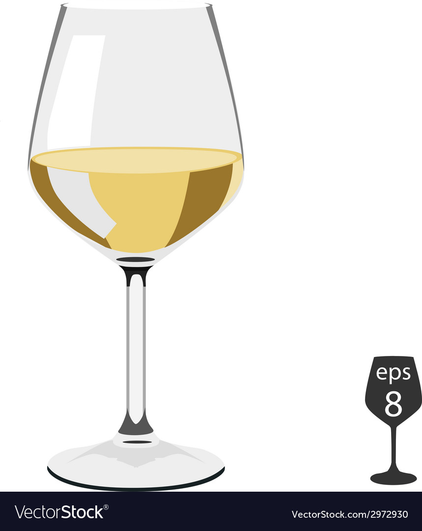 Glass of wine vector | Price: 1 Credit (USD $1)