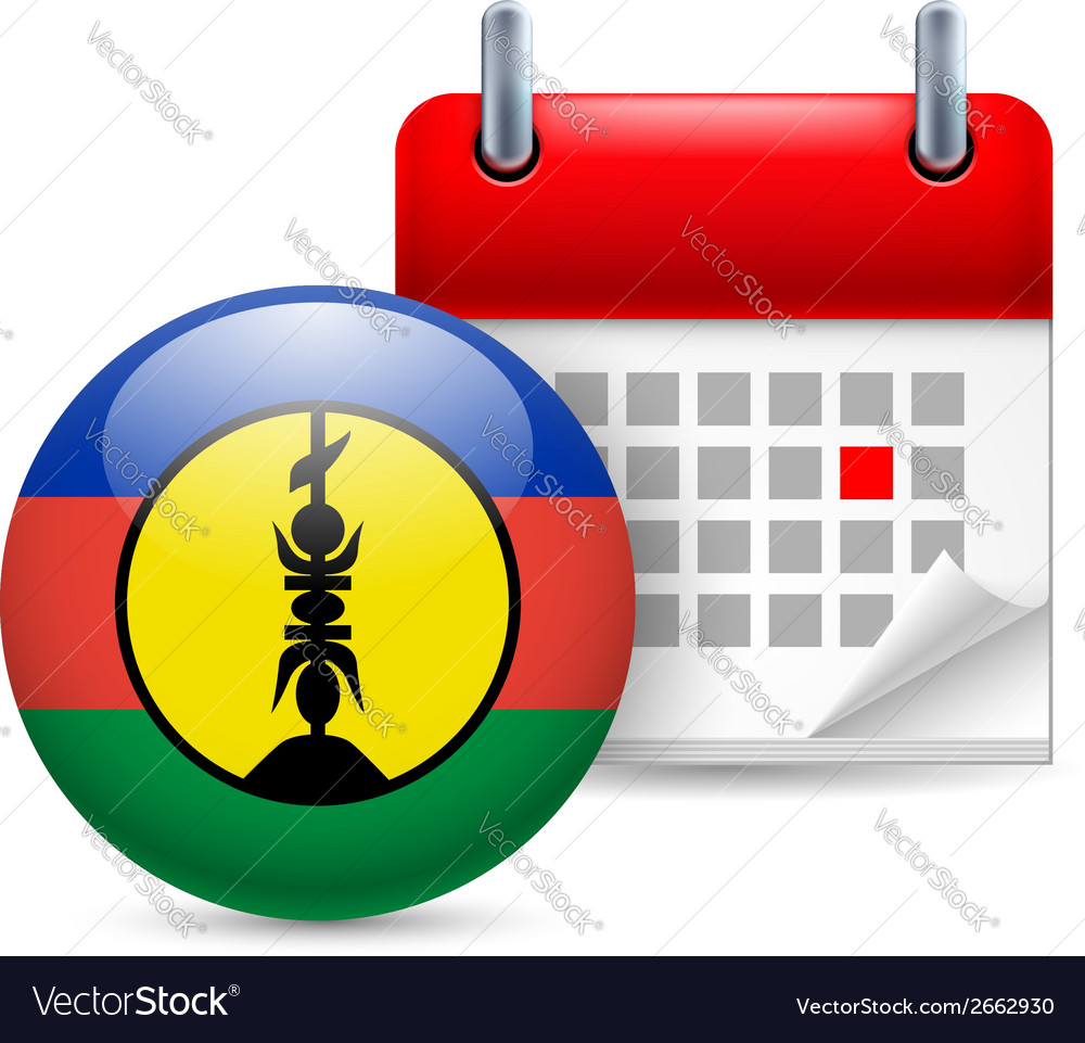 Icon of national day in new caledonia vector | Price: 1 Credit (USD $1)