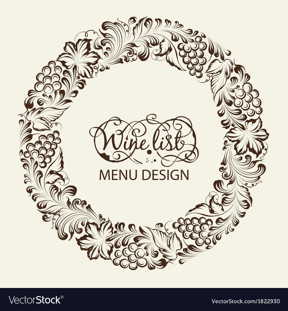 Menu design wine list vector | Price: 1 Credit (USD $1)
