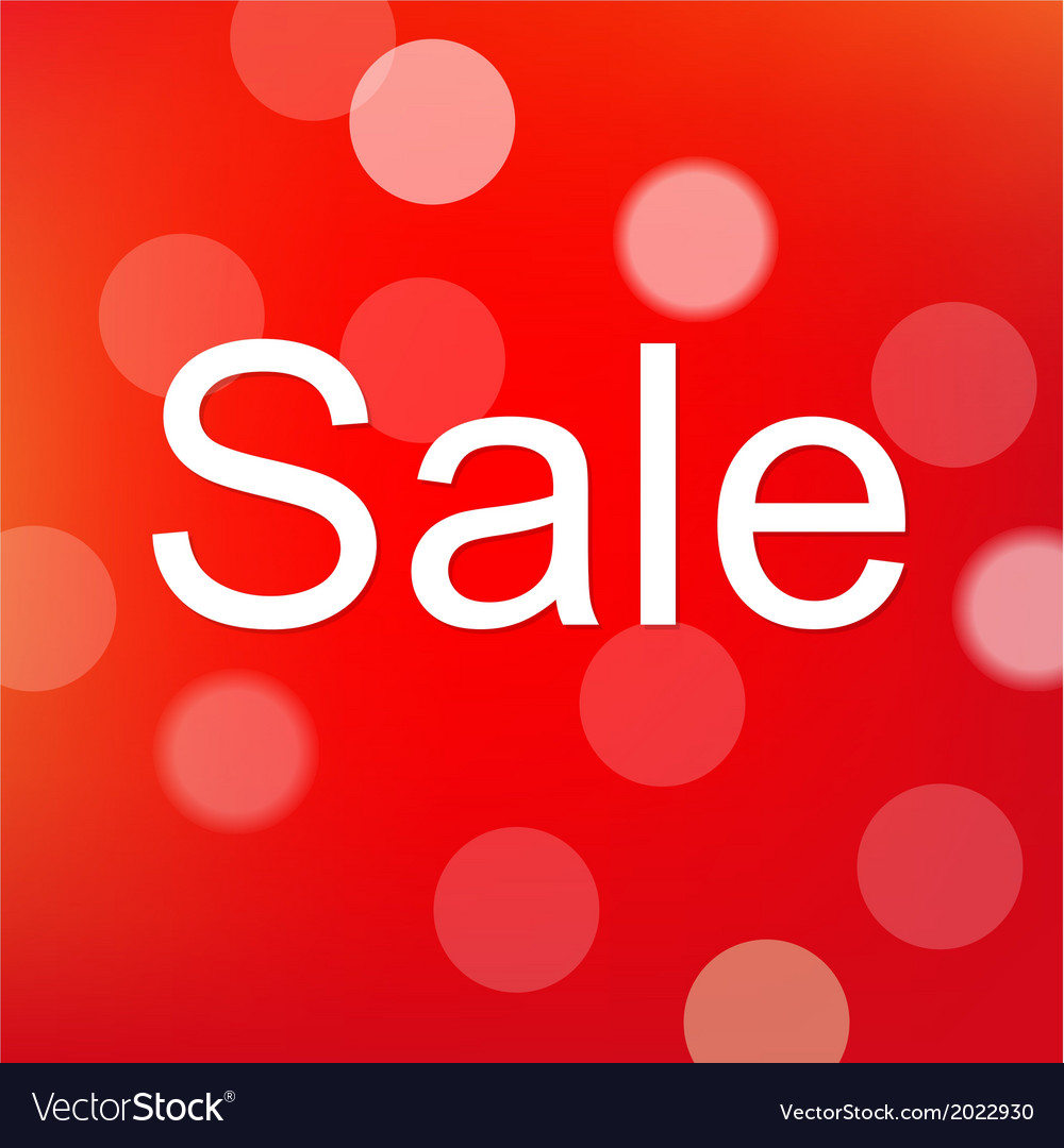 Red sale poster with bokeh vector   Price: 1 Credit (USD $1)