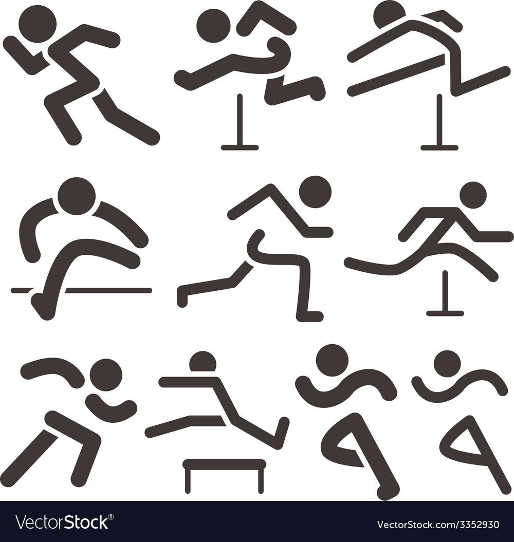 Running icons vector | Price: 1 Credit (USD $1)