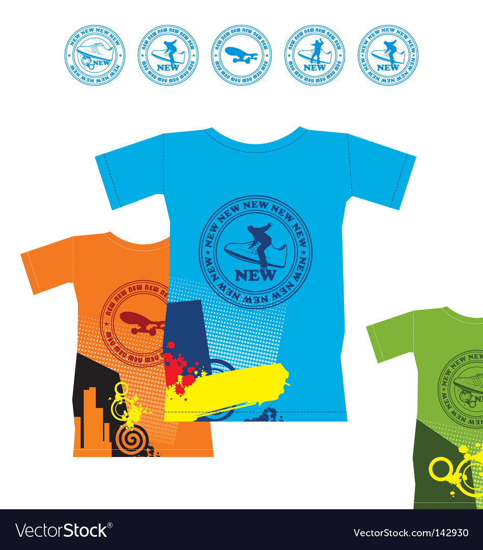 T-shirts for extreme sports vector | Price: 1 Credit (USD $1)