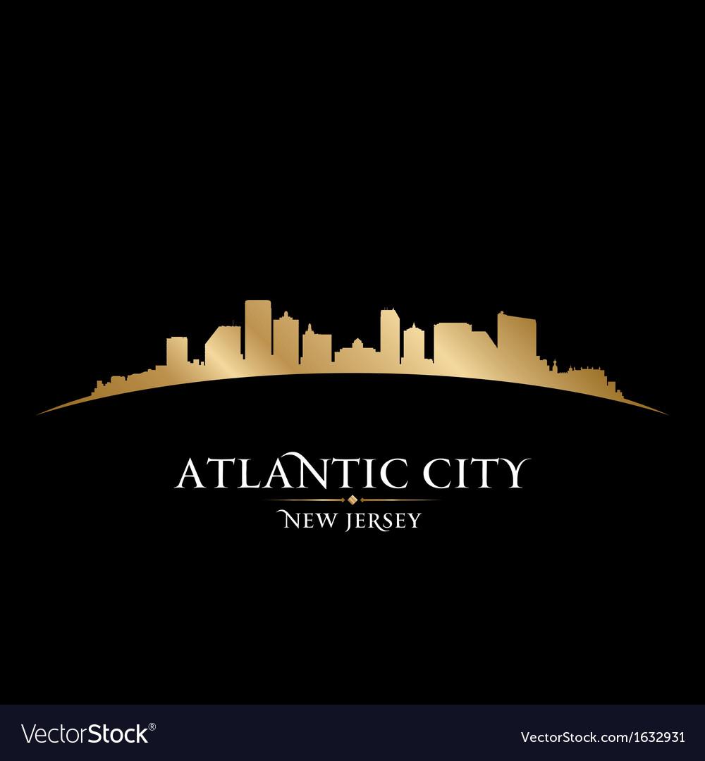 Atlantic city new jersey skyline silhouette vector | Price: 1 Credit (USD $1)