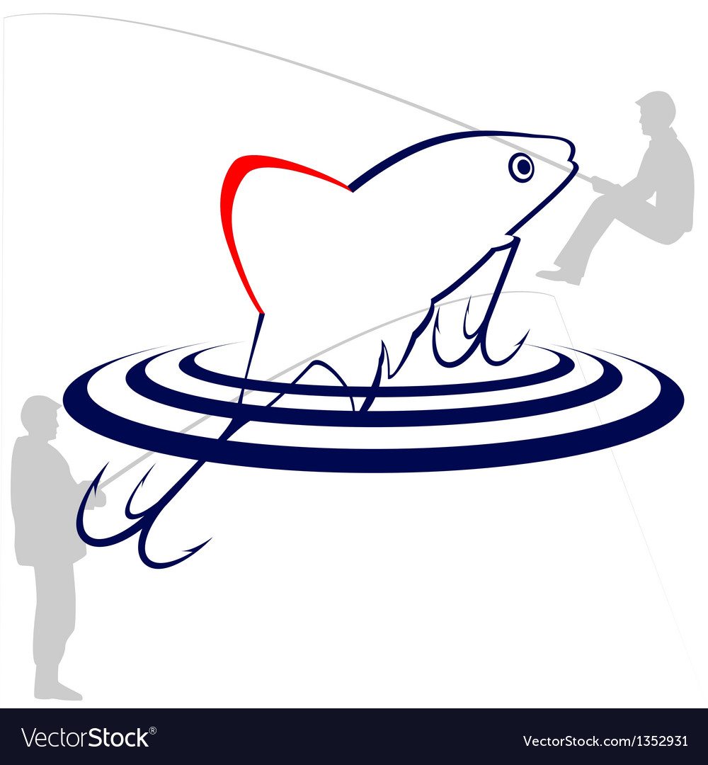 The bait fisherman vector | Price: 1 Credit (USD $1)