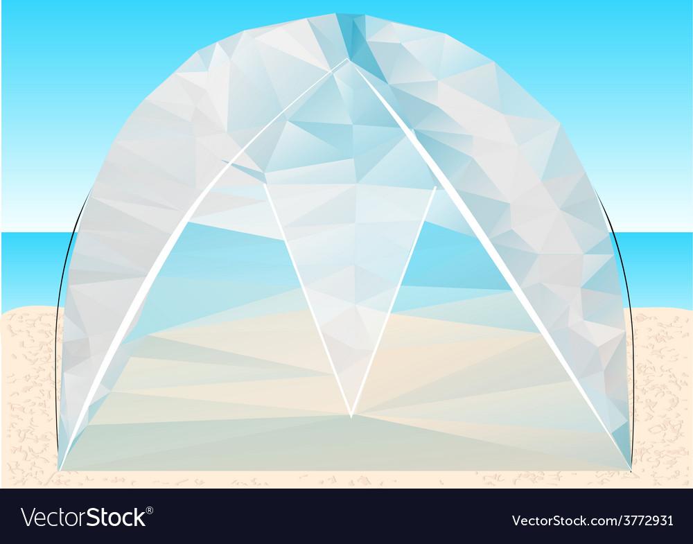 Beach tent vector | Price: 1 Credit (USD $1)