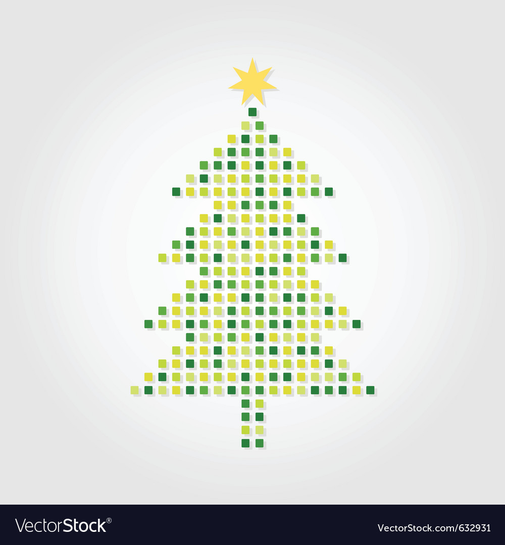 Christmas tree on a white background a vector | Price: 1 Credit (USD $1)