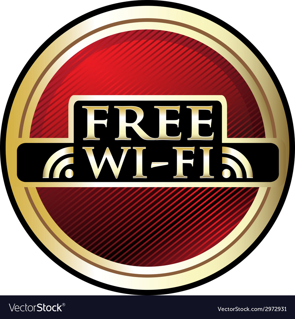 Free wifi red label vector | Price: 1 Credit (USD $1)
