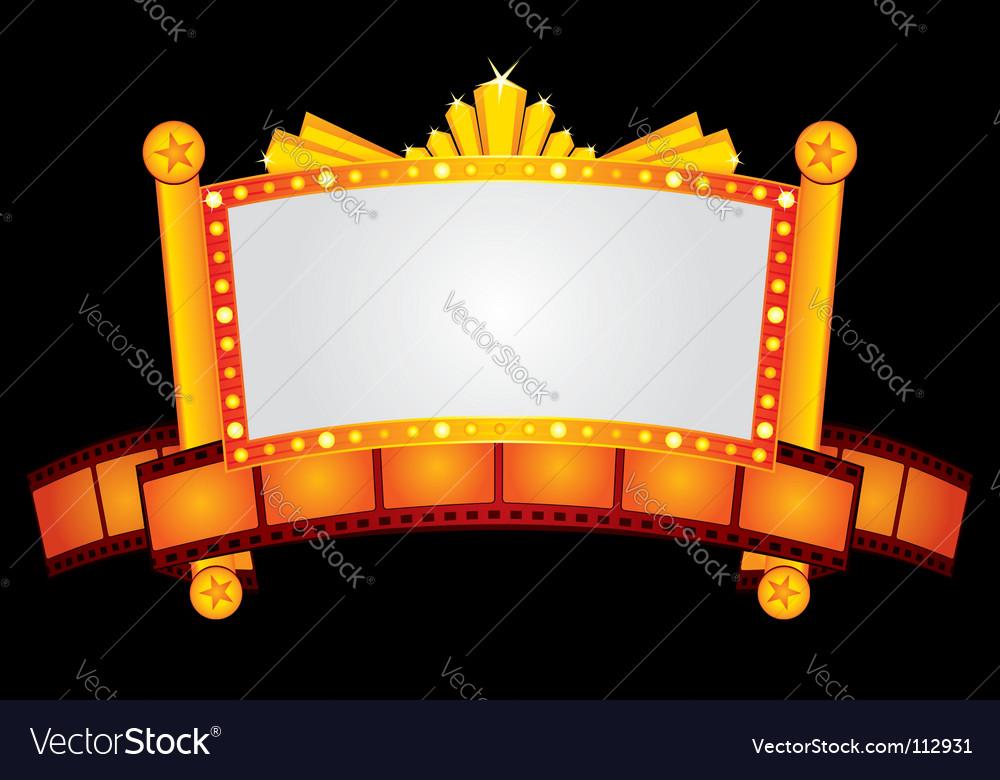 Gold cinema neon vector | Price: 1 Credit (USD $1)