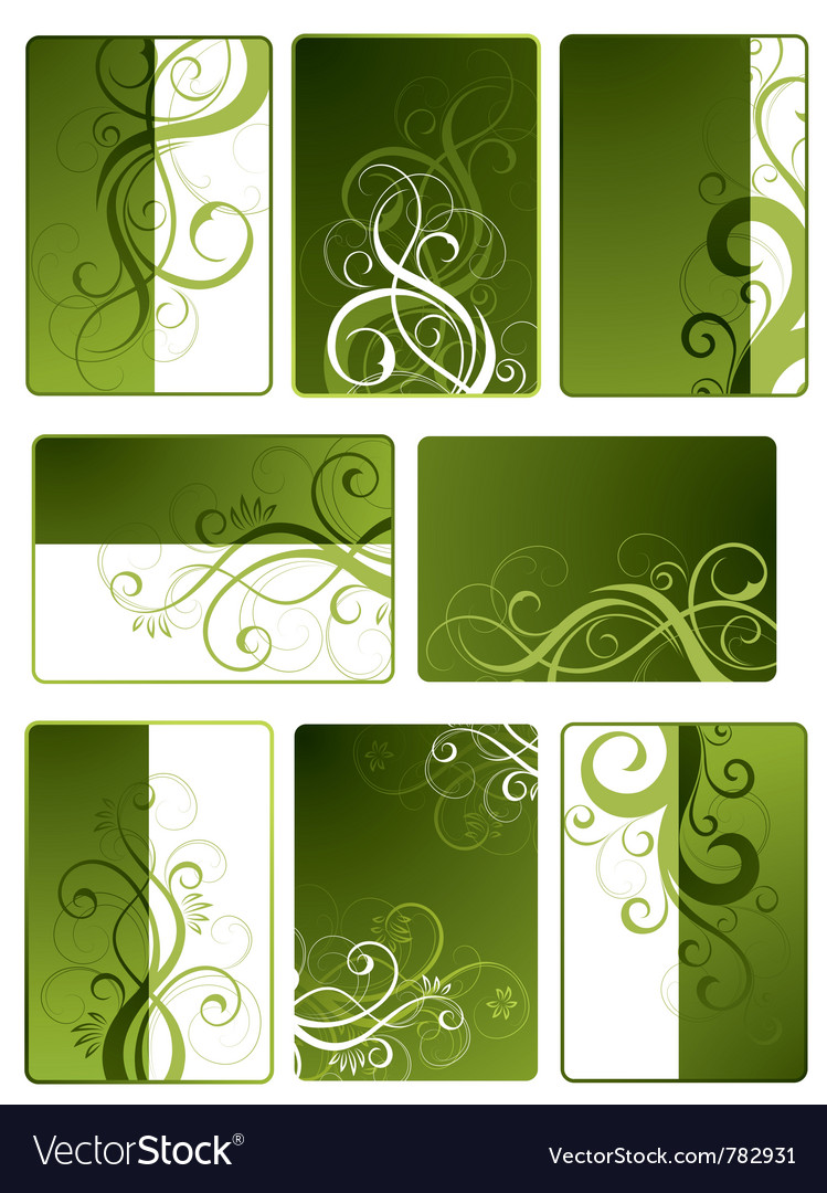 Green floral designs vector | Price: 1 Credit (USD $1)