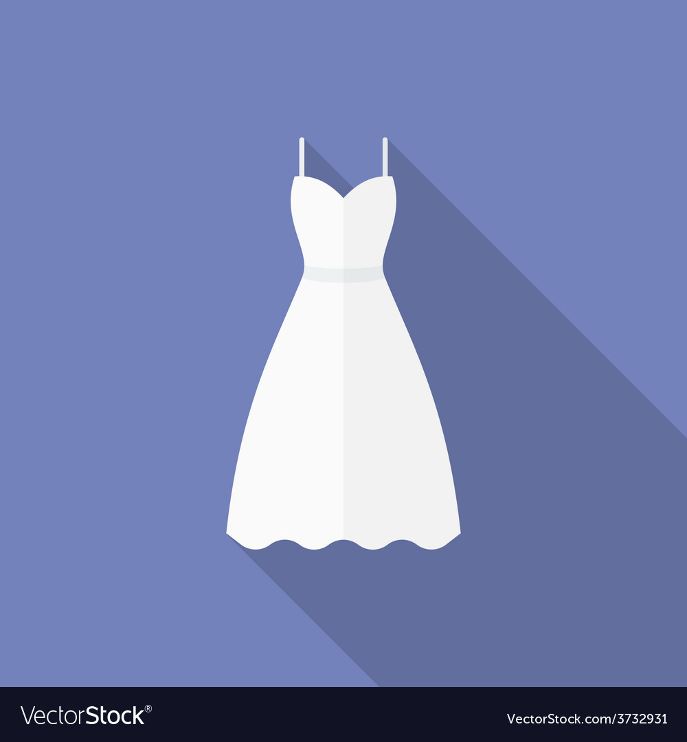 Icon of a wedding dress flat style vector | Price: 1 Credit (USD $1)