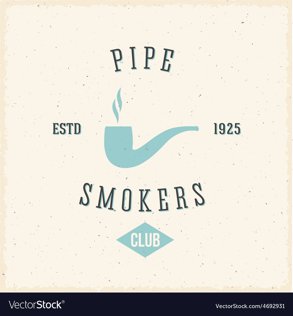 Pipe smokers club abstract vintage label or logo vector | Price: 1 Credit (USD $1)