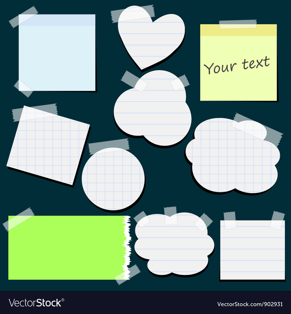 Set of different stickers vector | Price: 1 Credit (USD $1)