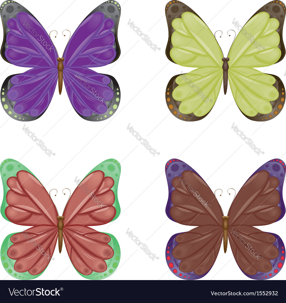 Abstract colorful butterflies vector | Price: 1 Credit (USD $1)
