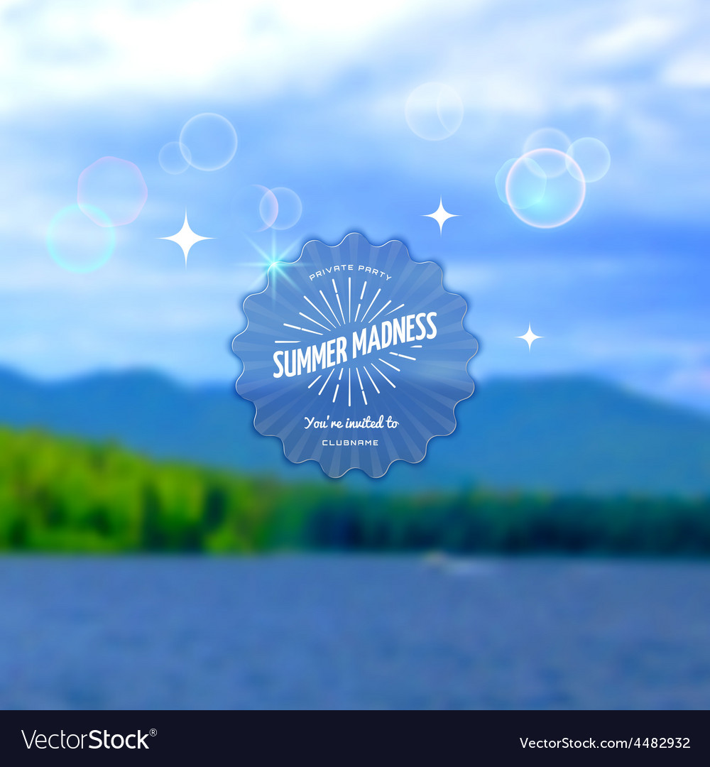 Festival summer madness realistic badge eps10 vector | Price: 1 Credit (USD $1)