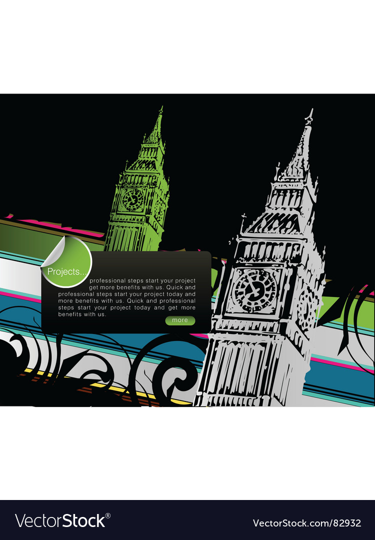 London town vector | Price: 1 Credit (USD $1)