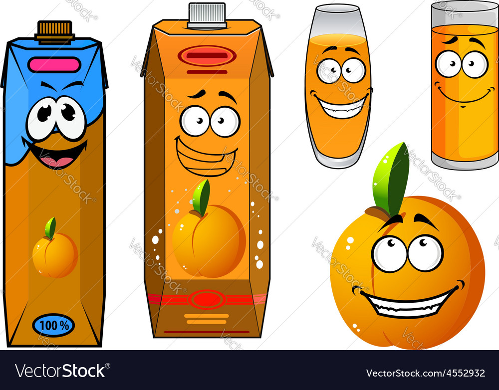 Orange juice and fruit cartoon icons vector | Price: 1 Credit (USD $1)