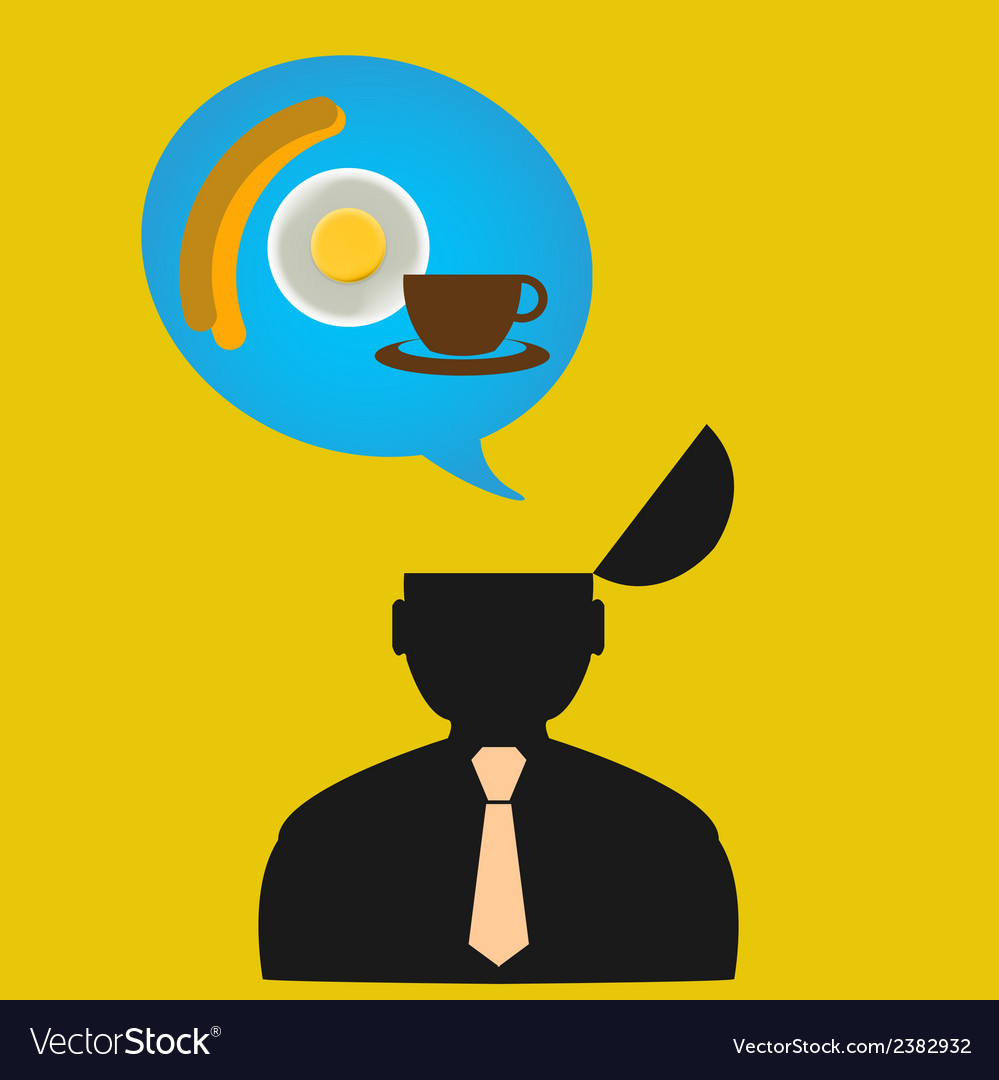 Persons thoughts about food design concept vector | Price: 1 Credit (USD $1)