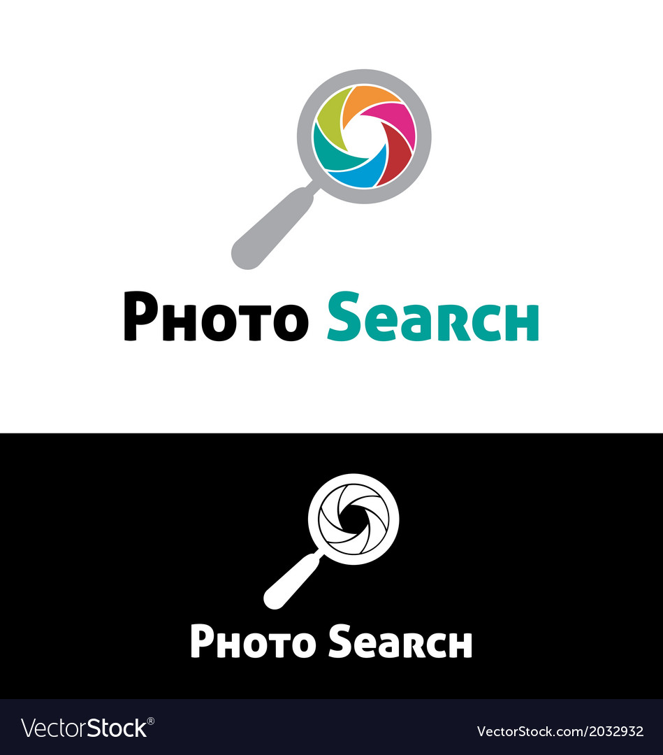 Photo search logo template vector | Price: 1 Credit (USD $1)