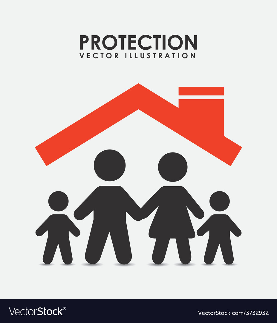 Protection icon vector | Price: 1 Credit (USD $1)