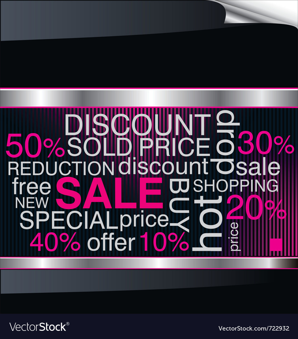 Sale discount advertisement background vector | Price: 1 Credit (USD $1)