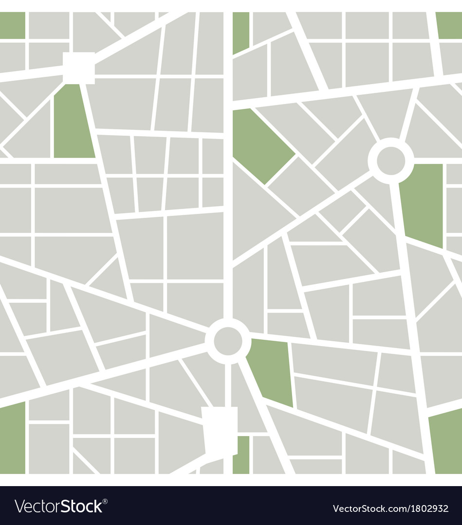 Seamless city map wallpaper pattern vector | Price: 1 Credit (USD $1)