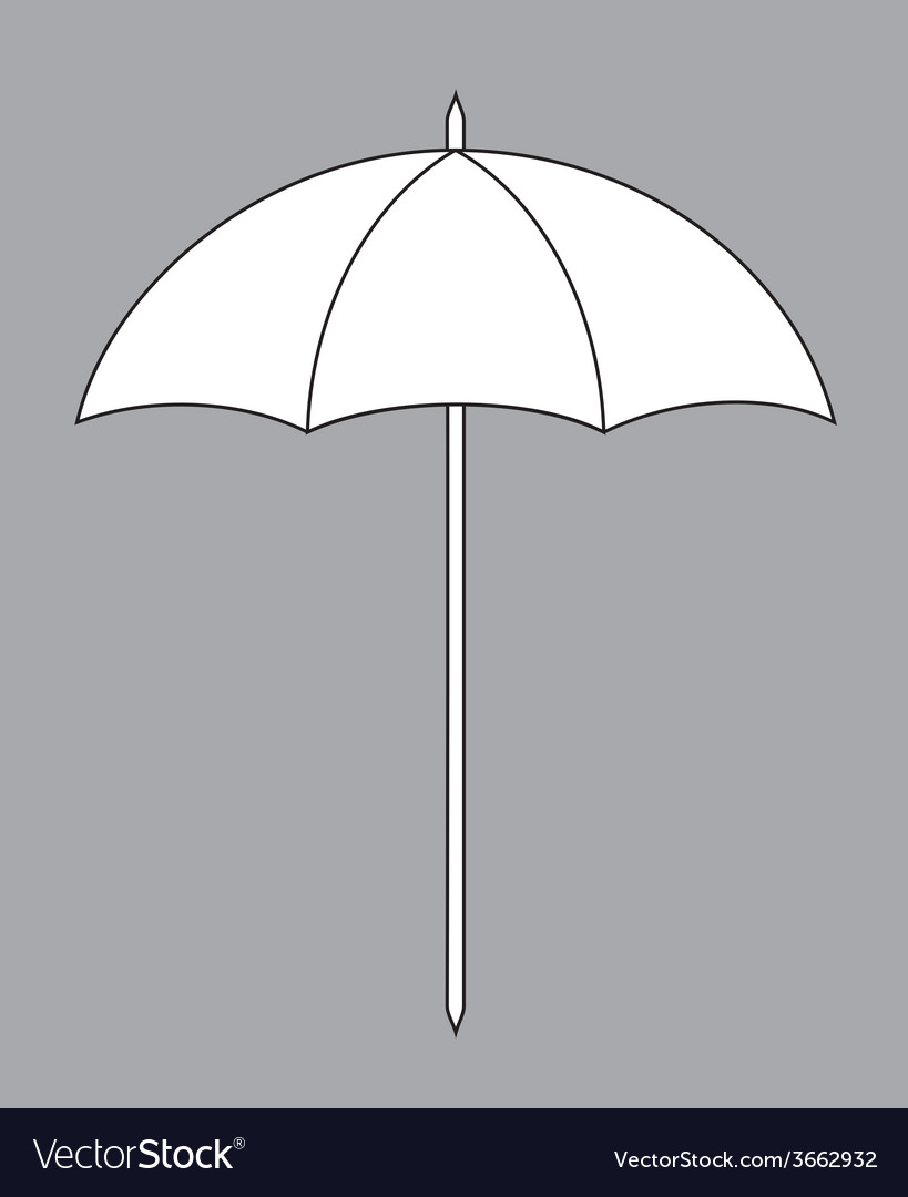 Sun umbrella vector | Price: 1 Credit (USD $1)