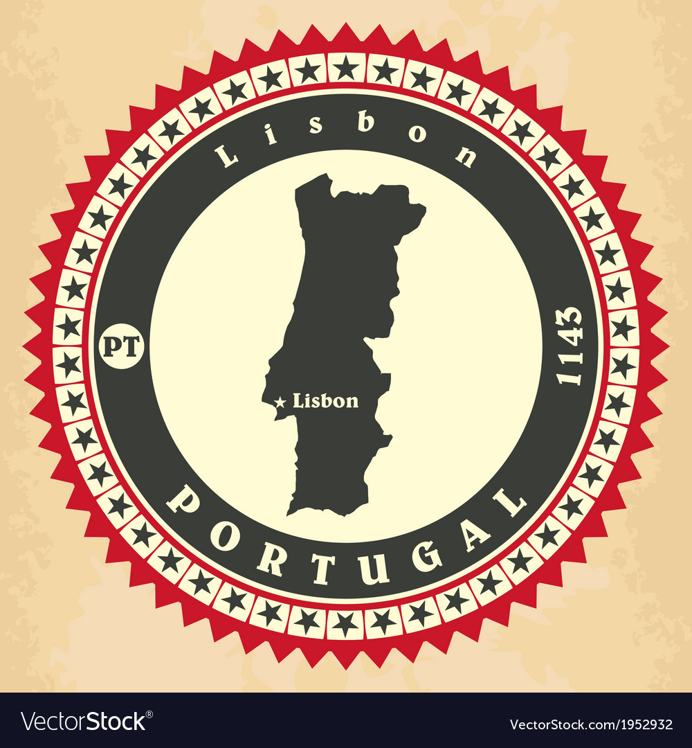 Vintage label-sticker cards of portugal vector | Price: 1 Credit (USD $1)