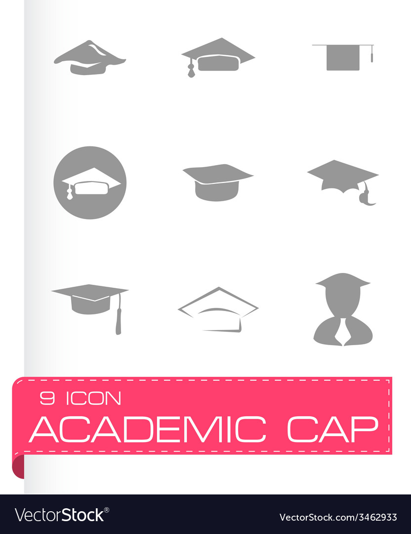 Academic icon set vector | Price: 1 Credit (USD $1)
