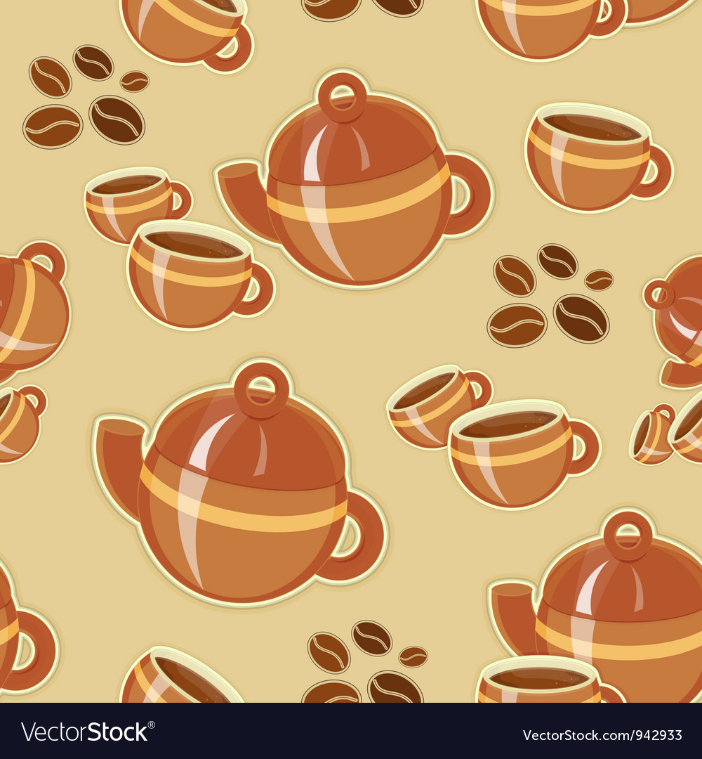 Coffee seamless pattern vector | Price: 1 Credit (USD $1)