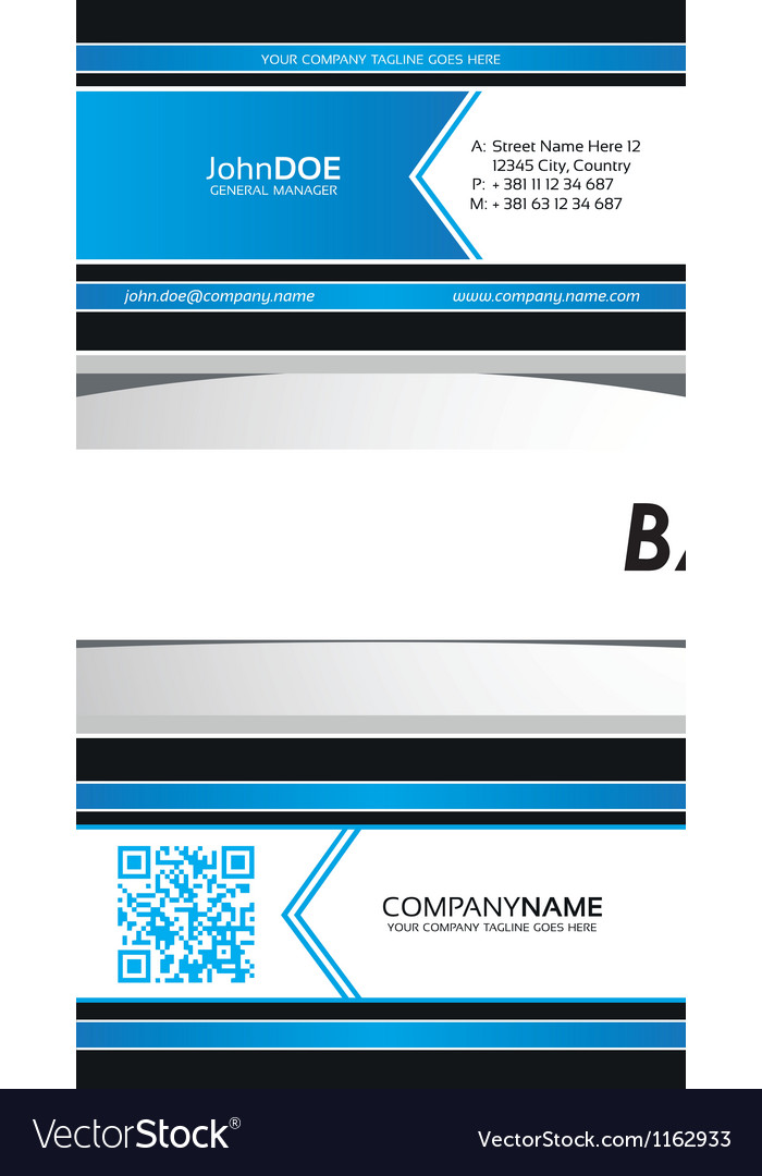 Corporate business card ribbon template vector | Price: 1 Credit (USD $1)