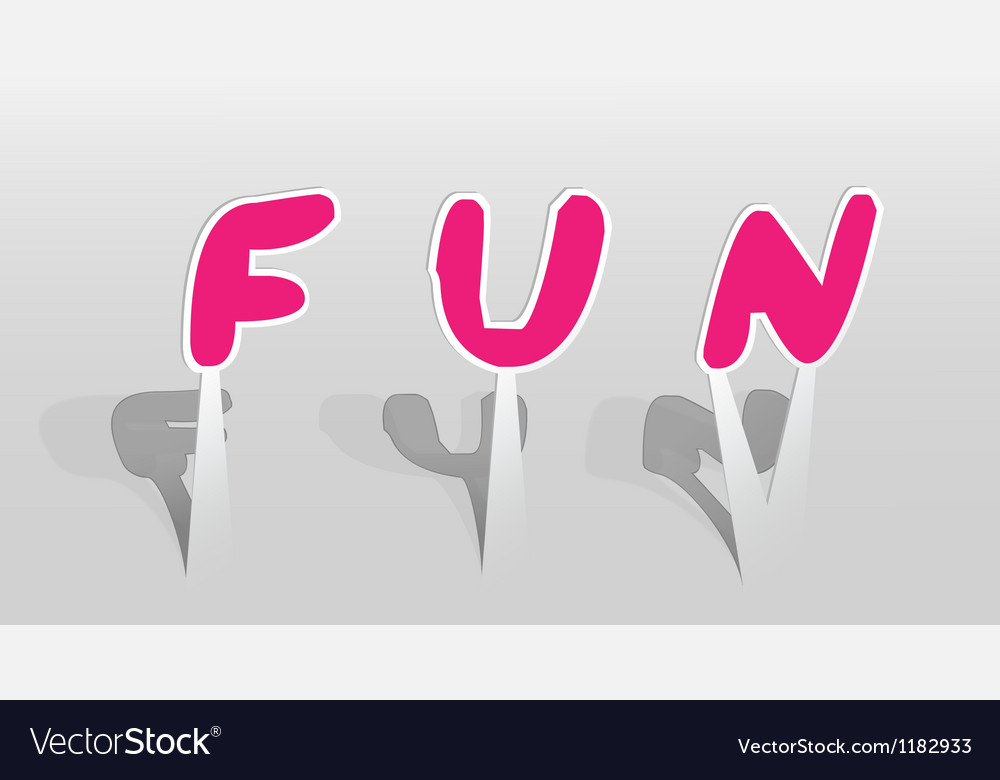 Fun word vector | Price: 1 Credit (USD $1)