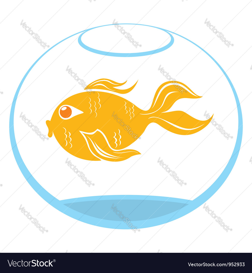 Goldfish symbol vector | Price: 1 Credit (USD $1)