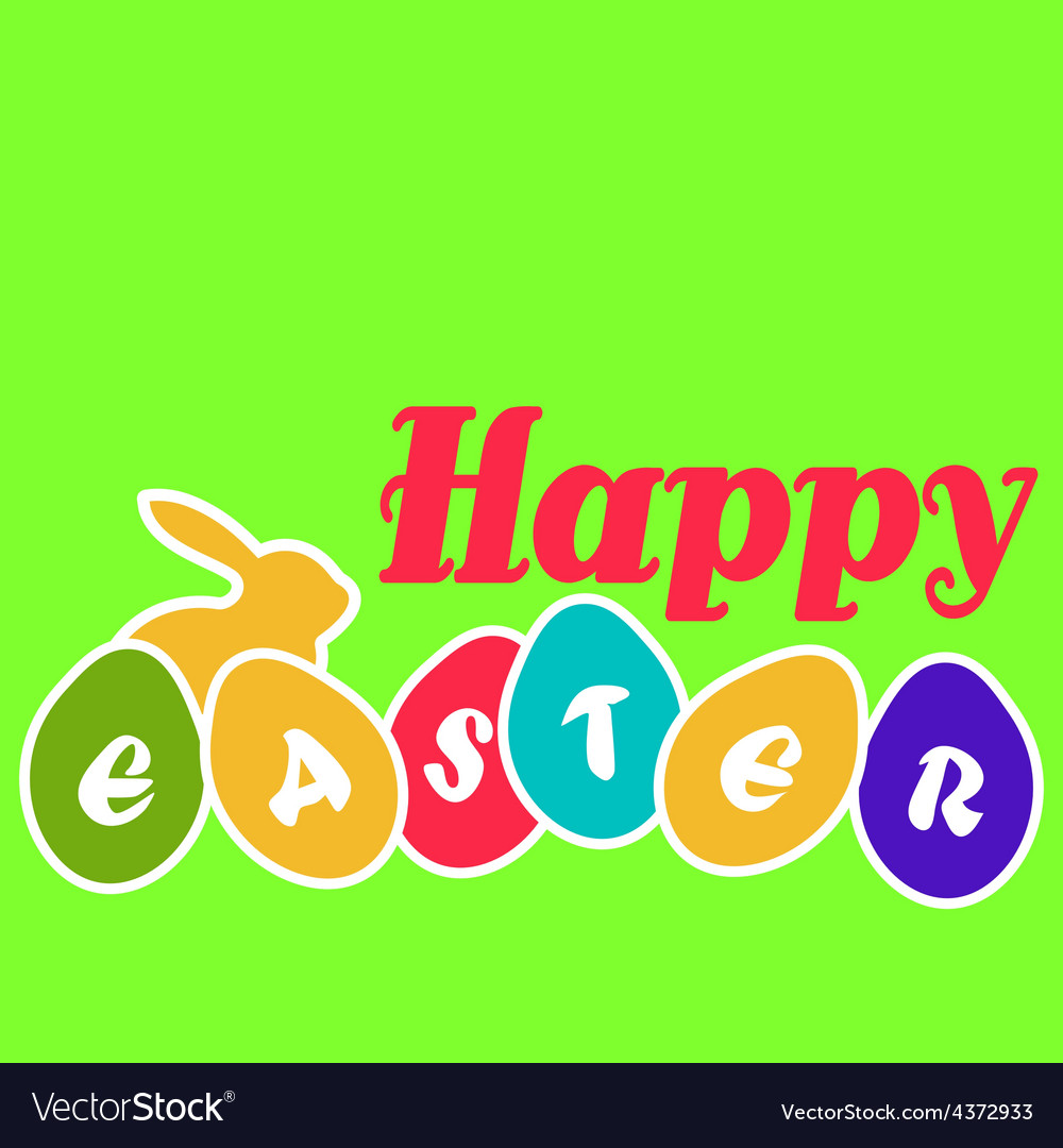 Happy easter egg card vector | Price: 1 Credit (USD $1)