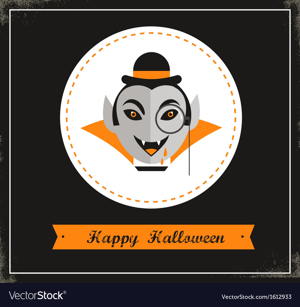 Happy hipster halloween vector | Price: 1 Credit (USD $1)
