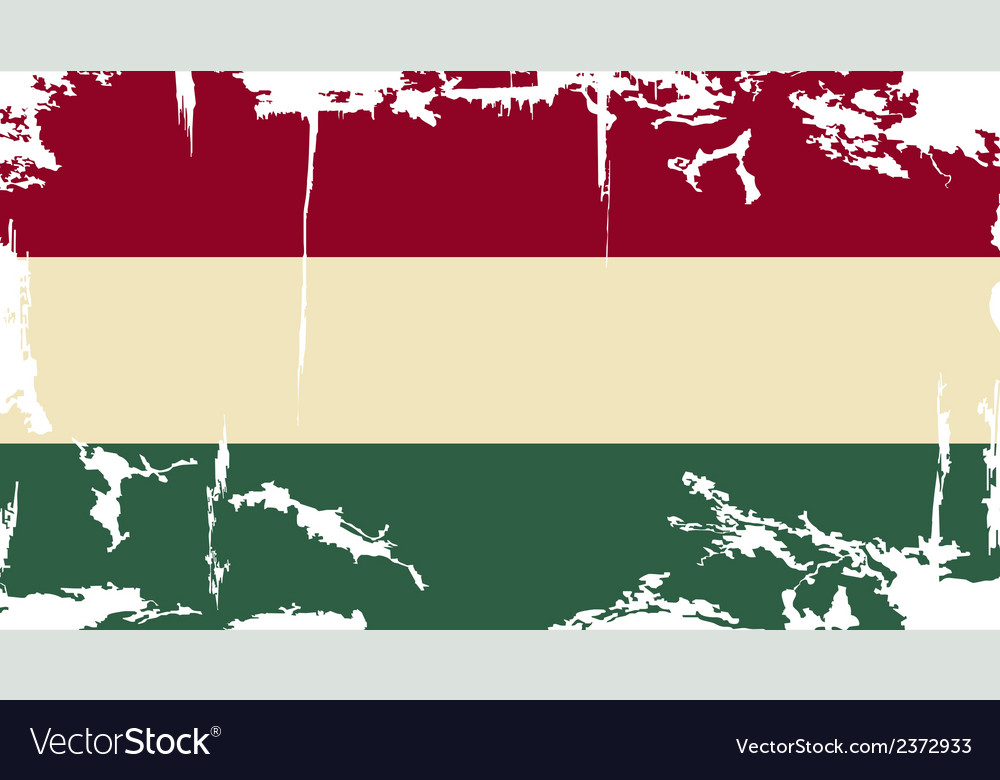 Hungarian grunge flag vector | Price: 1 Credit (USD $1)