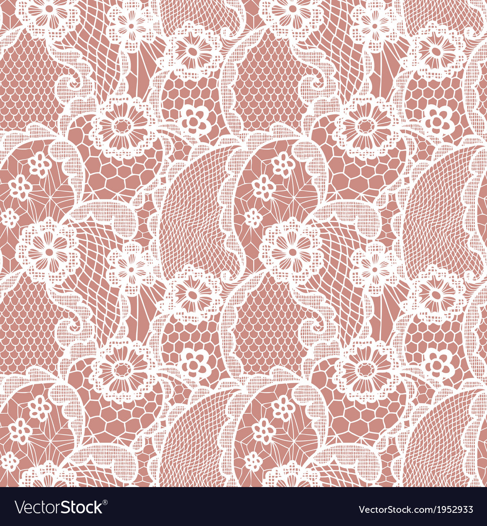 Lace seamless pattern with flowers vector   Price: 1 Credit (USD $1)